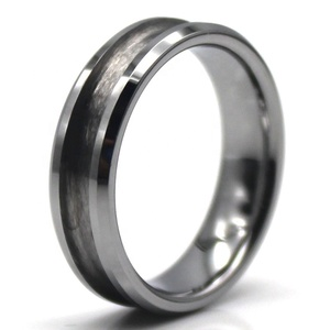 Factory Custom Channel Groove 6mm Silver Tungsten Carbide Ring Blank Blanks for Inlay