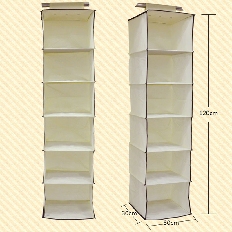 Get Quotations · Hanging Storage Organizer Closet Wardrobe Foldable  Prateleiras Organizadora 6 Layer Organizer Hanging Storage (yi Xia