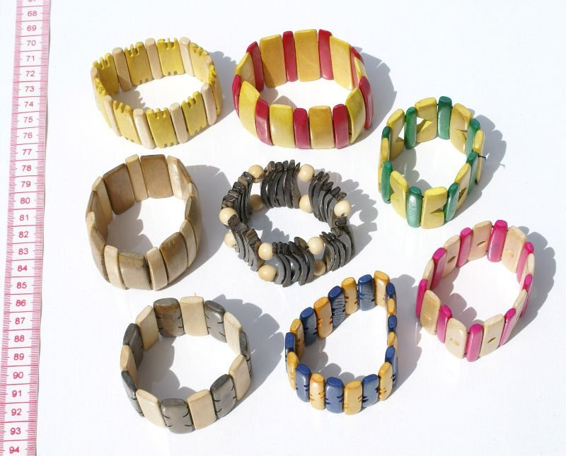 Artisan Wooden Beaded Bracelets of Wood Handmade Peru, Wholesale Western Jewelry