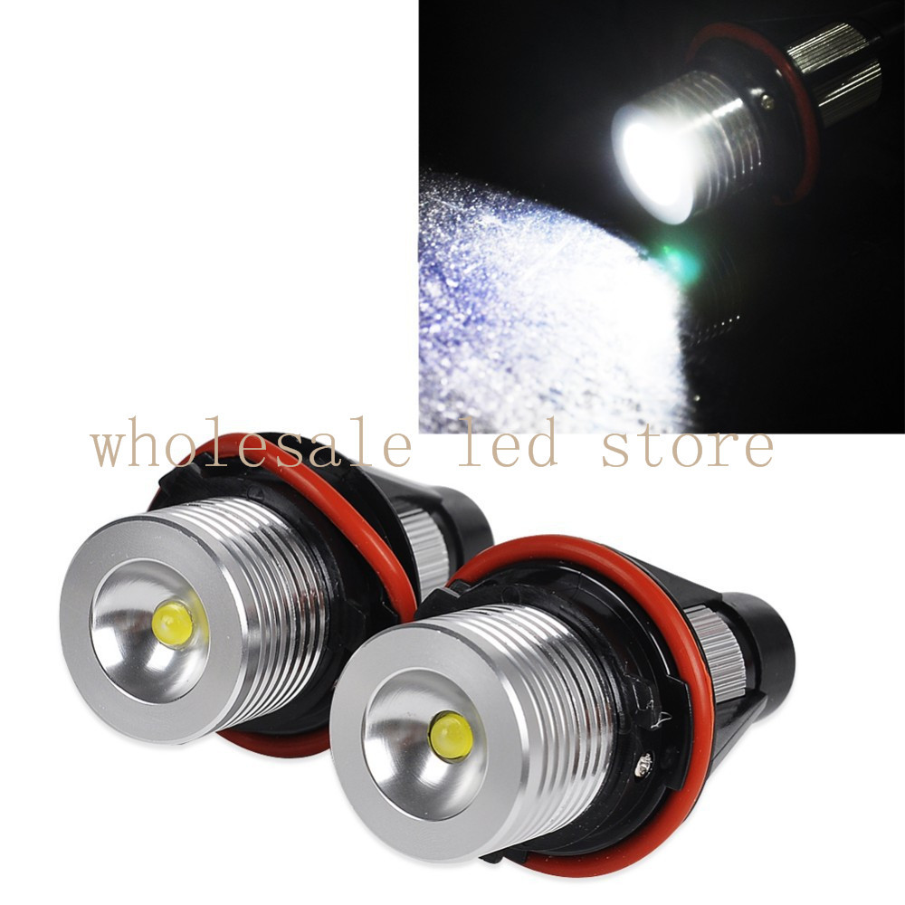2x 6000K Angel Eyes Halo LED Light Bulb For BMW E39 E59 E53 E60 E31 E63 E64 E65