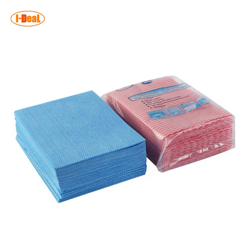 Antibacterial 80gsm meshed dryed water absorbent kitchen cleaning wipes