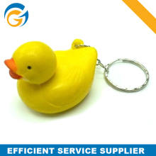 2014 Popular Duck PU AntiStress Ball Keyring