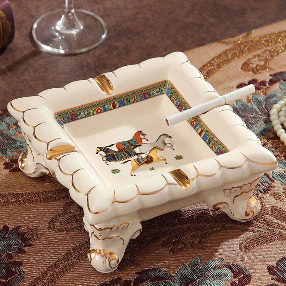 European creative home decoration ceramic ashtray and ashtray ornament fashion Office/[Fashion Office Ashtray Decoration]-A