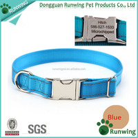 Personalized Engraved Dog Collar with Metal Buckle for Dog