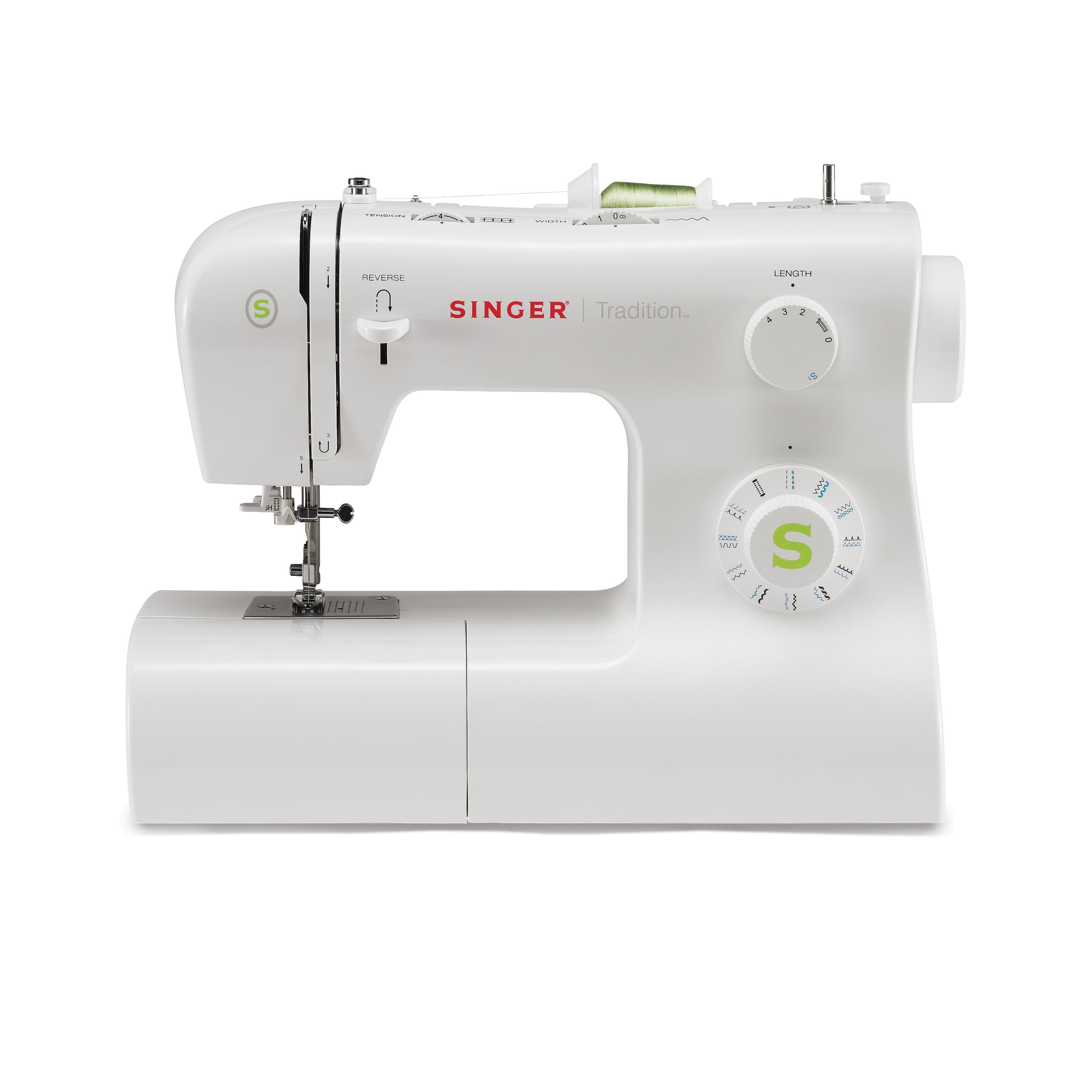 SINGER | Tradition 2277 Sewing Machine including 23 Built-In Stitches, Automatic Needle Threader, Snap-On Presser Feet, Automatic Tension, perfect for sewing all types of fabrics with ease