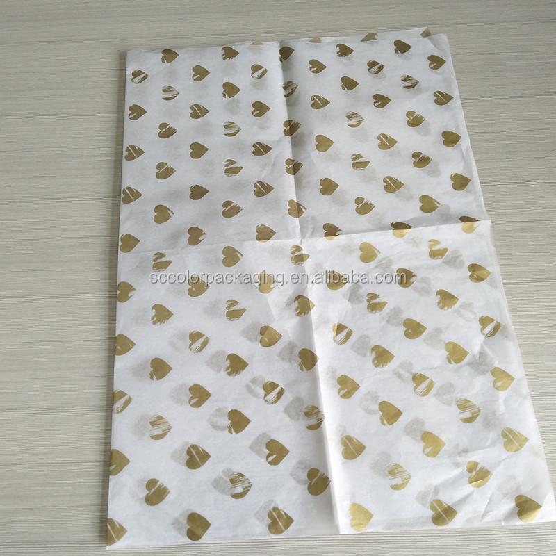 Logotipo personalizado Impresso Papel de seda, 17gsm Moistureproof Personalizado Papel De Seda para Embalagem Roupas