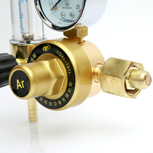 High pressure brass argon pressure regulator