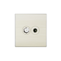 Brushed panel GOG CE SASO certificated tv coaxial socket