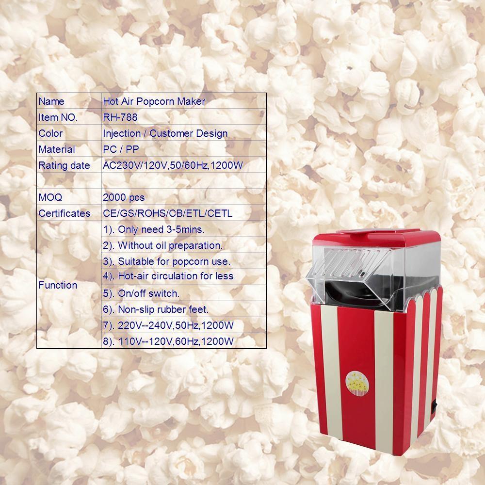 M160104 Rh-788 Colorful Hot Air Popcorn Machine Suit For Promotion ...