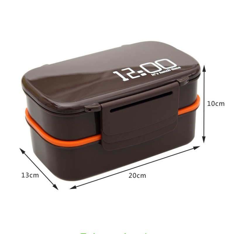c0edbe78ea99 Double Tier Bento Lunch Box