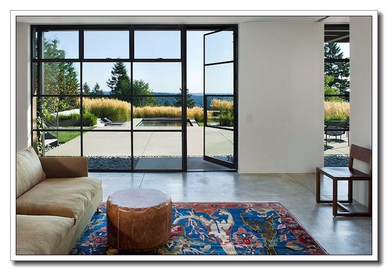 Patio trasero de diseño de aluminio puerta de seguridad/doble ...