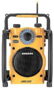 Sangean Rugged Am/Fm Radio Ergonomic Rugged Design Super Sound Water Resistant LED Illuminator