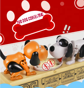 Best Christmas Gift hot sale two dog money box barking electronic grab money eating coin dog money saving box