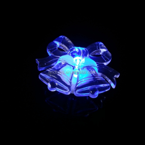 popular halloween luminous small bell led flashing glow in the dark bell centerpiece Led light up night light table
