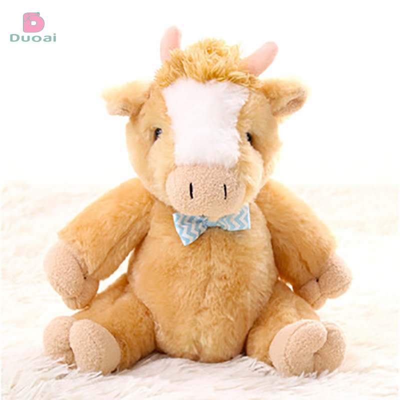 New coming animal family baby birthday sleeping with plush toy lovely cow baby