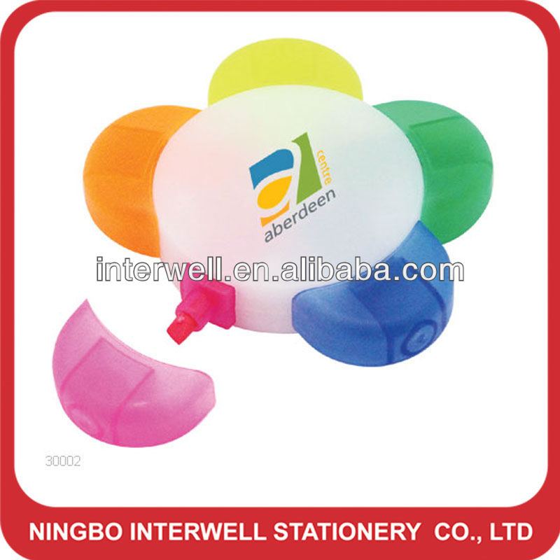 Flower Shaped Highlighter( 5 in 1) for promotion