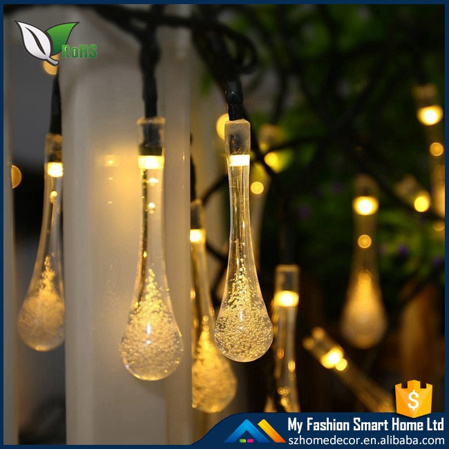 Fancy String Lights For Decoration Led Water Dropping