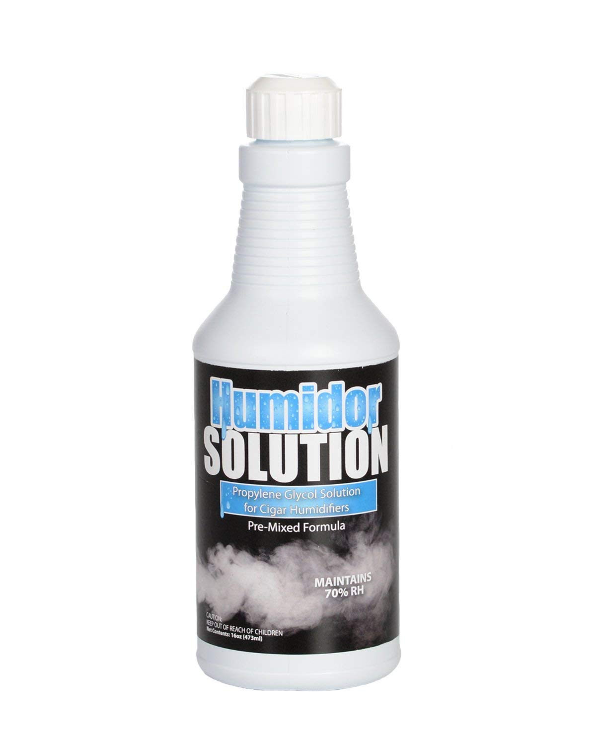 Cigar Humidor Solution - Pre-Mixed 50/50 Propylene Glycol for Humidifiers - 16oz Pint with Easy Pour Spout