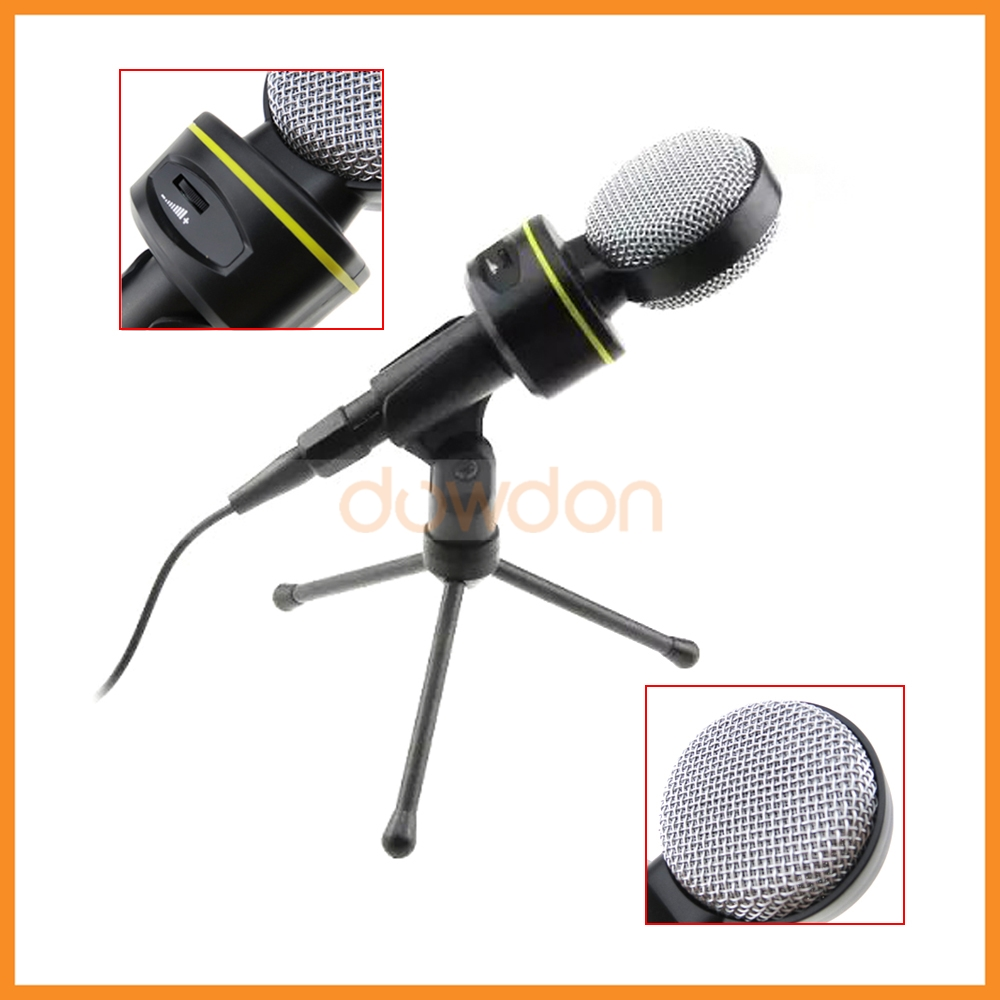 3.5 Stereo Plug Mic Sound Recording Stand Studio Condenser Microphone for Laptop PC