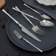 Wholesale Housewares Mirror Polish Silver Coated Cutlery Set