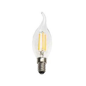 Hot sale New Design 4W Dimmable E14 220V 110V LED COB SIBO Filament Light Candle Bulbs 360 Degree Lamp