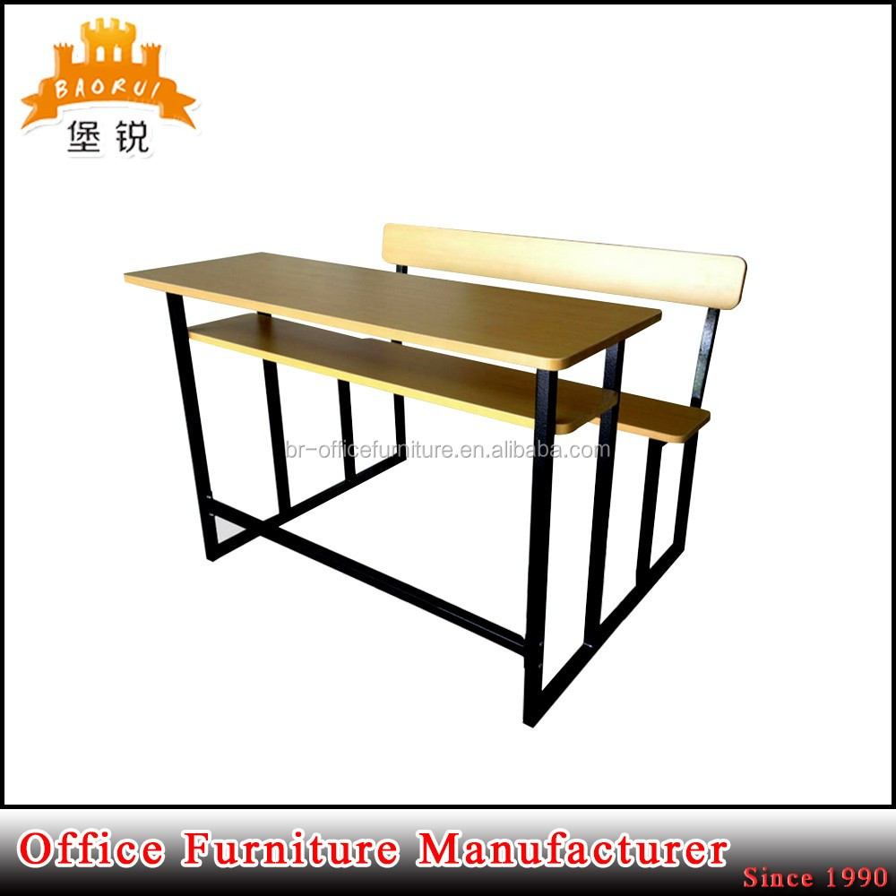 BAS-089 customized dimensions school desk with bench/ school desk chair