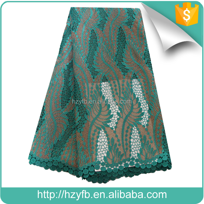 2017 New design Wine wedding nigerian embroidery lace fabric / African cord lace / African swiss guipure lace fabric wholesale