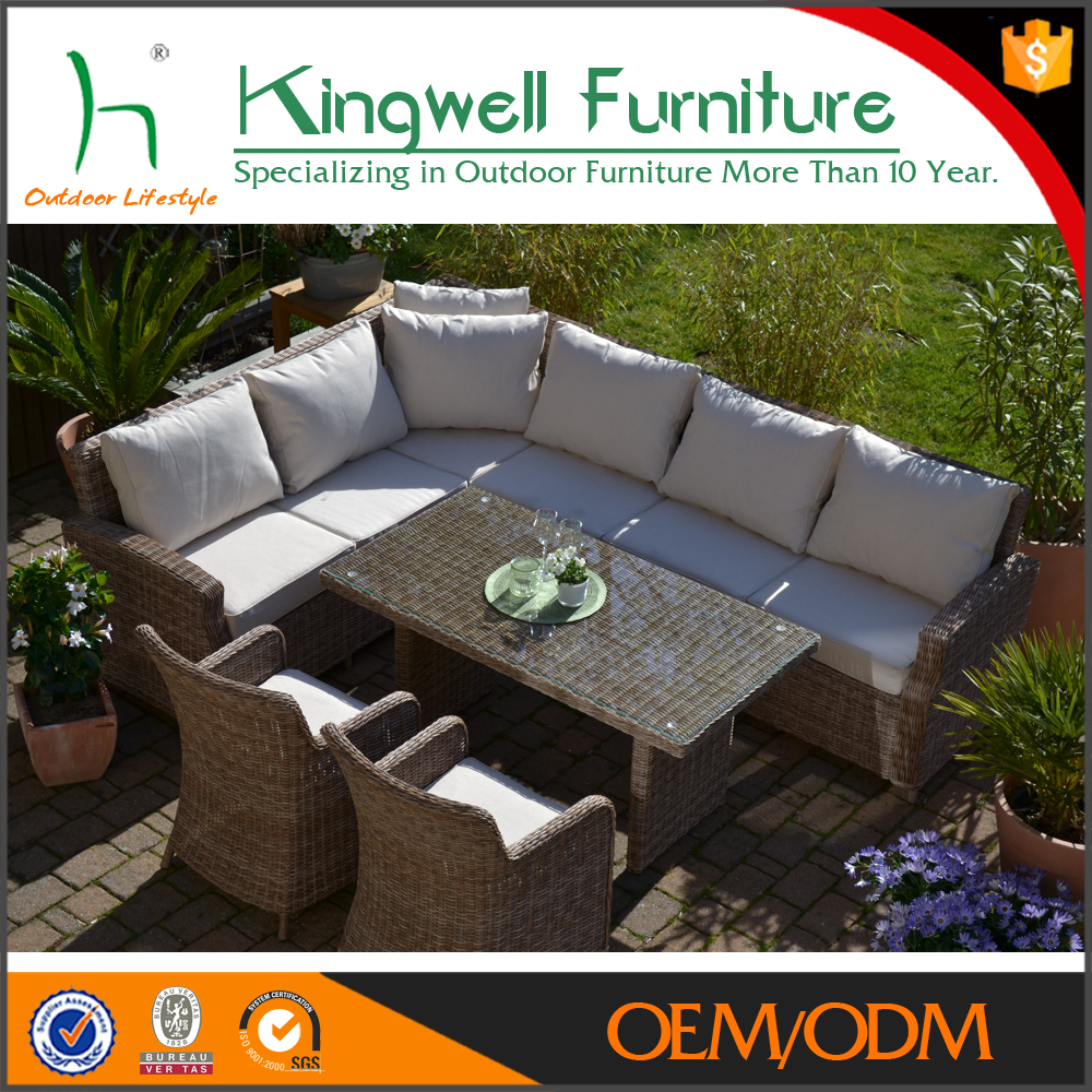 Hot Sale Luxury Rattan Wicker Garden Sofas Furniture