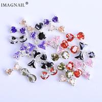 IMAGNAIL DIY Alloy Zircon Dangle Nail Art Bow Decoration Diamond Rhinestone Butterfly Nails Jewelry Charms Nails Accessories