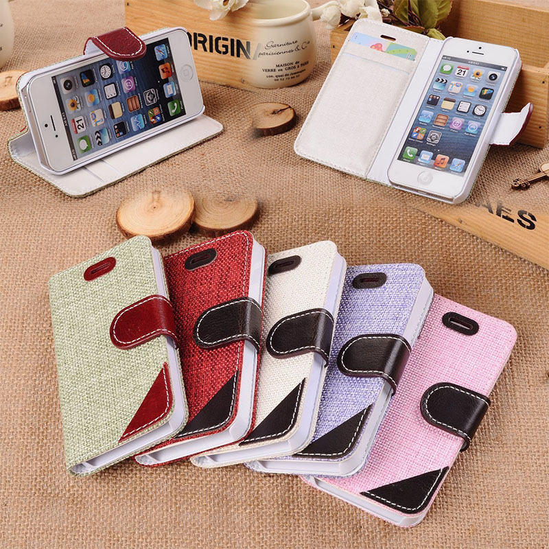 Weave Crafts Wallet Leather Case For iPhone 5/5s