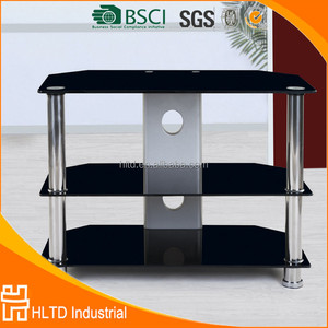 Modern Stainless Steel TV Table Tempered Glass TV Stand