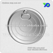603# Aluminum ring pull can top lid