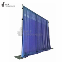 telescopic adjustable used square curtains wedding backdrop stand exhibition pipe and drape for stage decoration