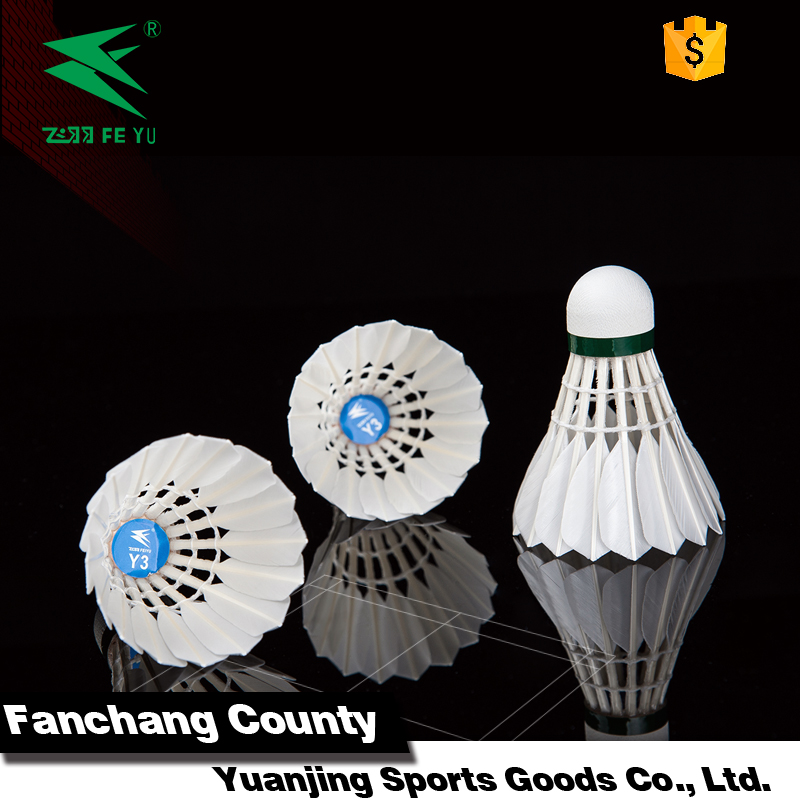 duck feather oem badminton shuttlecock