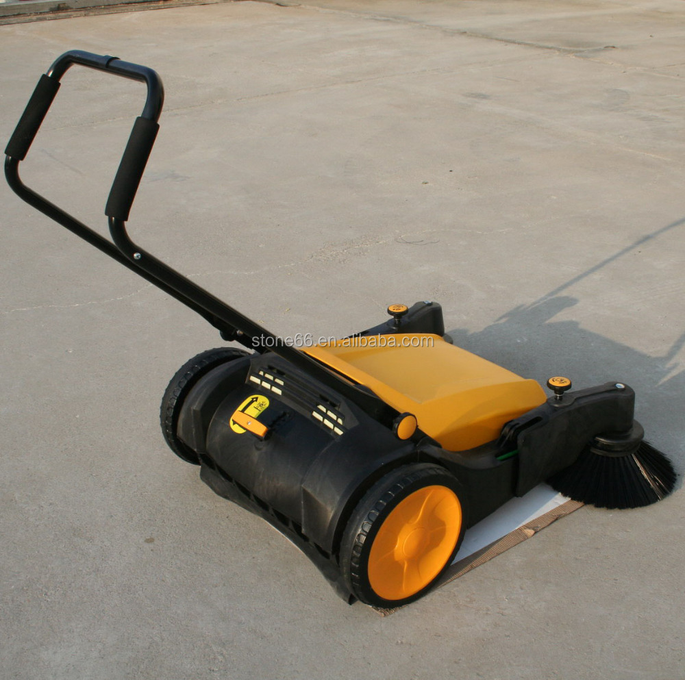 Manual sweeper mechanical dust cleaner road sweeper