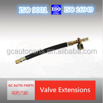 flexible tire valve extension of rubber material