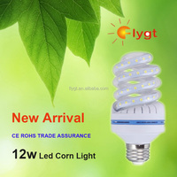 Various types supermarket spiral shape 120v led corn lamp