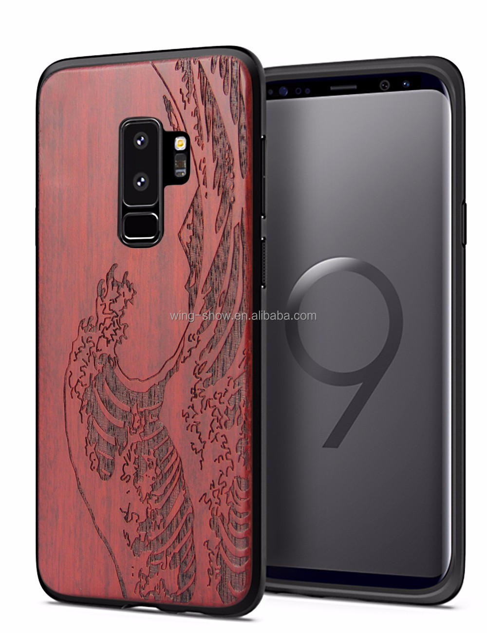 PC back covers for Samsung S9 Plus,wooden cell phone shell 2018 <strong>hot</strong>