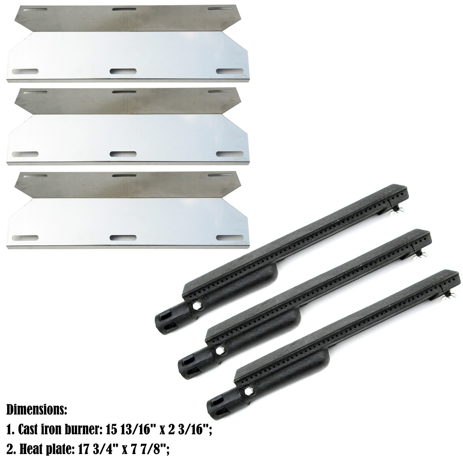 Direct store Parts Kit DG225 Replacement Jenn Air 730-0163, 720-0163 Gas Grill Repair Kit Burner and Heat Plates - 3 Pack