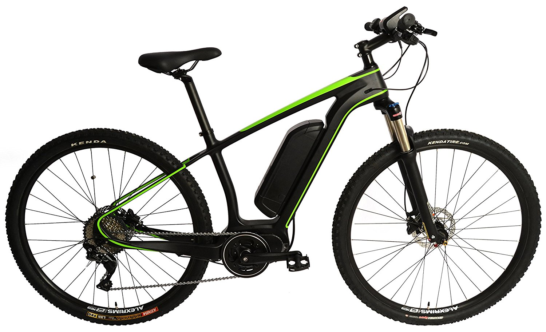 Carbon Fiber 29er MTB EBike Electric Bike E-Bike Bicycle Disc Hardtail. Green 250w Direct Drive Motor. 36v 12ah Li-Po Battery. Shimano SLX 11 Speed. …