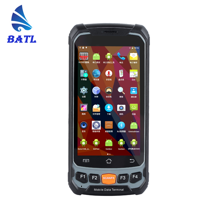 "4.7""handheld data collector computer rugged smartphone wifi waterproof industrial android courier pda with 1d 2d"