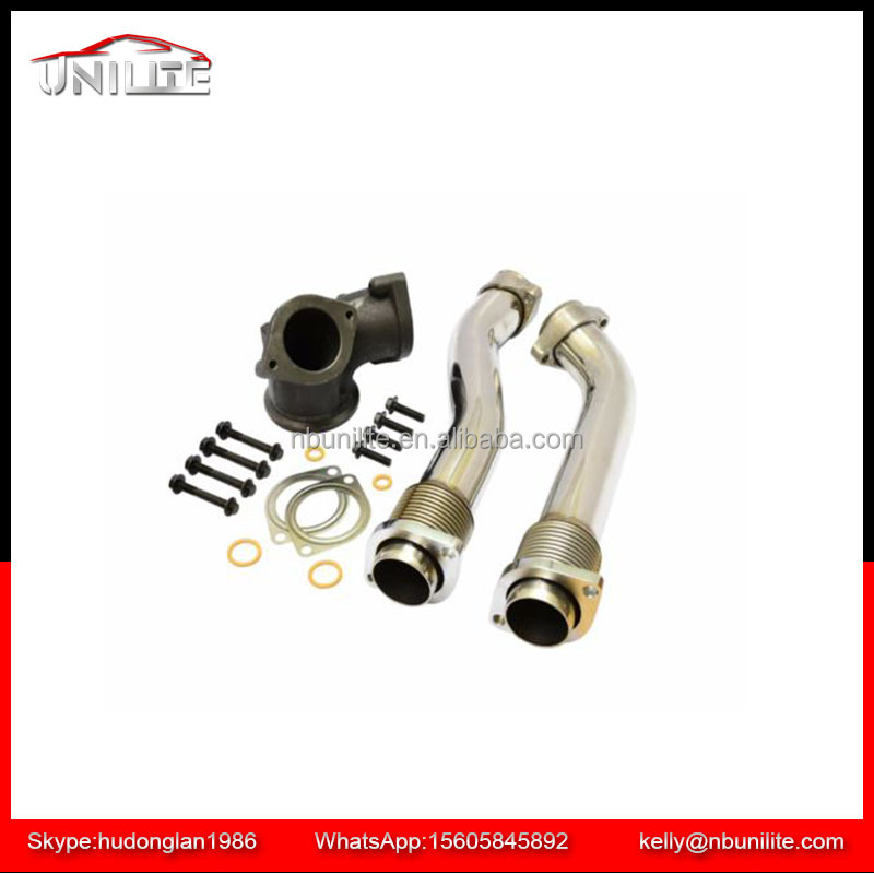 7.3L F ord Powerstroke 99-03 Turbo Diesel Exhaust Up Pipes Polished 304SS