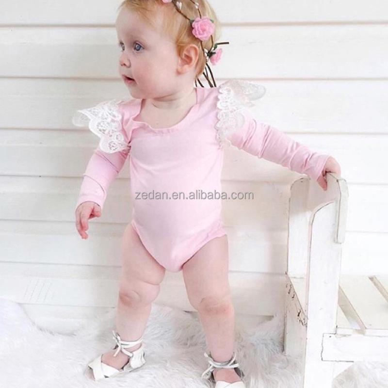 Baby Girls Monogrammed Pink Romper