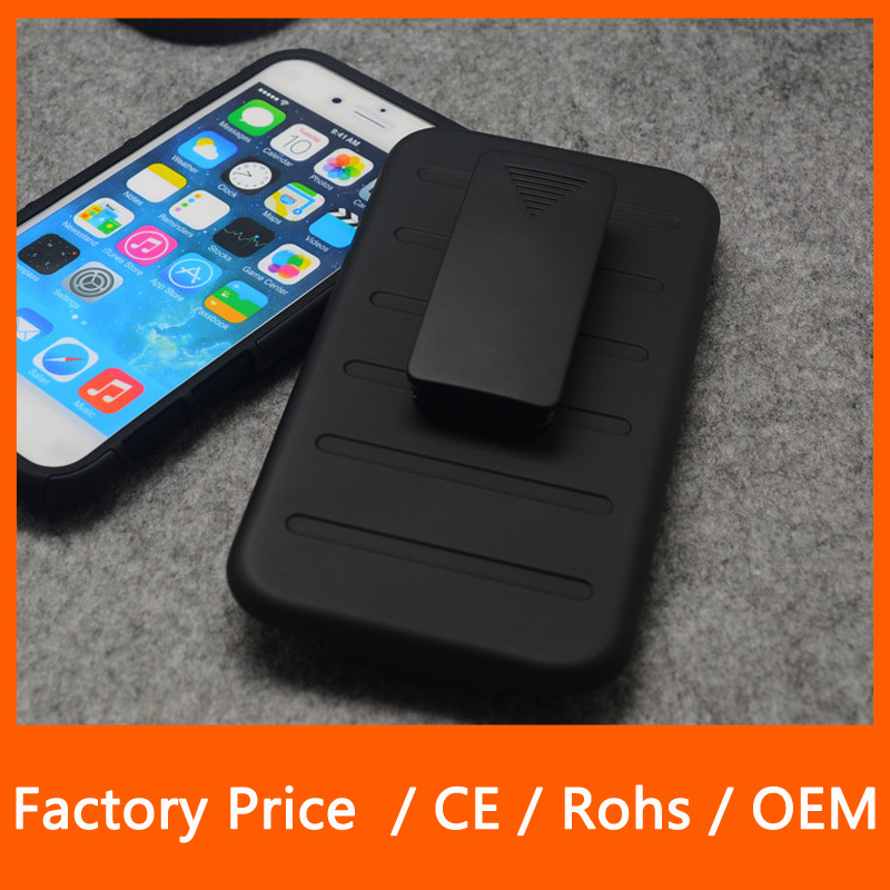 High Quality Armor Shock Impact Belt Clip Holster Belt Case For iPhone 6