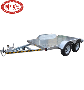 Flat Deck Trailer >> Flat Deck Trailer Two Axles Platform Trailer Car Carry Trailer Buy Car Trailer Atv Trailer Car Transporter Trailer Product On Alibaba Com