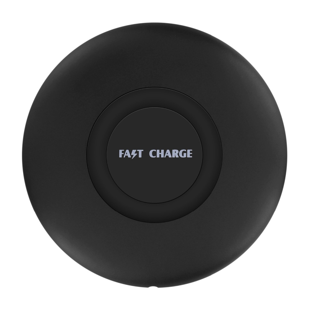 2018 Low MOQ round wireless charger qi fast high output wireless charging cell charging wireless