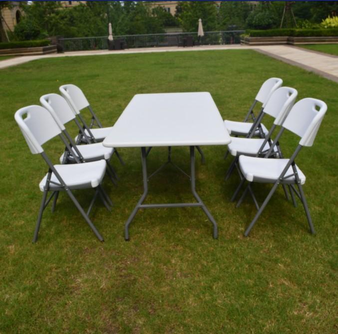 6ft/183cm Long Plastic Rectangular Used Folding Tables For Sale ...
