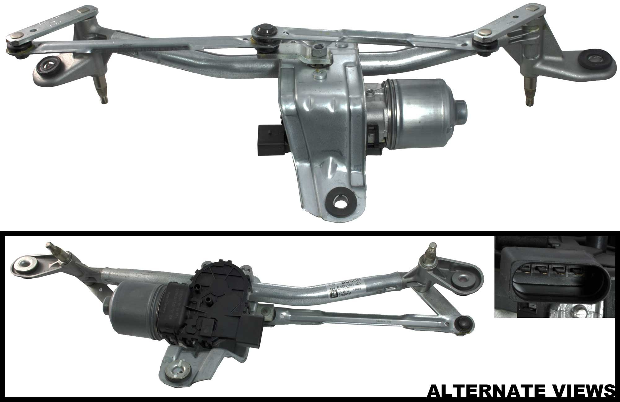Apdty 713348 22664679 Windshield Wiper Motor Transmission Linkage Embly Fits 2005 2010 Chevy
