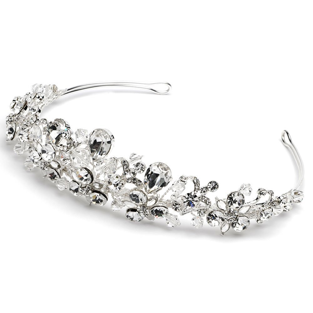 Elegant Bridal Designs Women's Crystal & Rhinestone Bridal Tiara Crown for Weddings