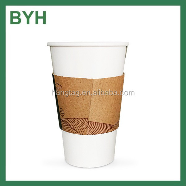 custom paper coffee cups sleeves Custom printed paper coffee cups the outer surface of these cups will be quite comfortable so there's no need for double cups or the sleeves ripple style paper.
